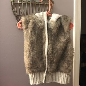 Faux Fur Baby Gap Hooded Vest